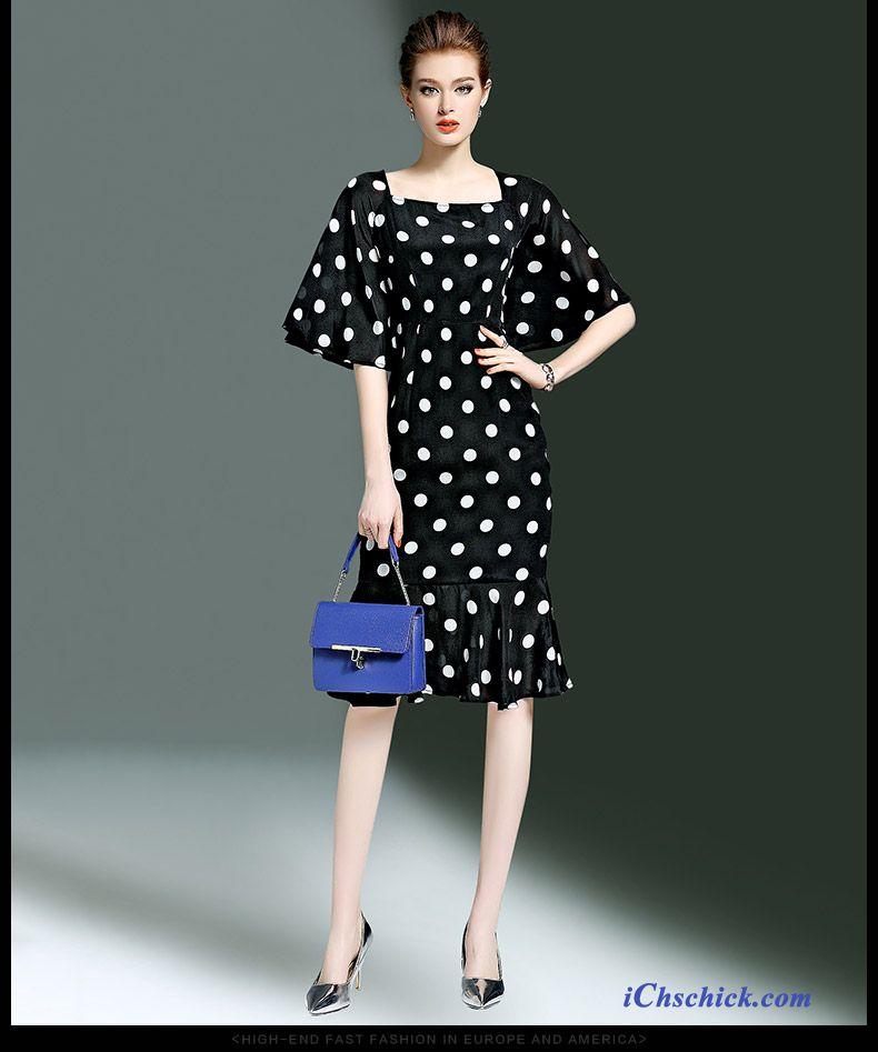 Blaues Kleid Mit Spitze, Baumwollkleider Damen Billig