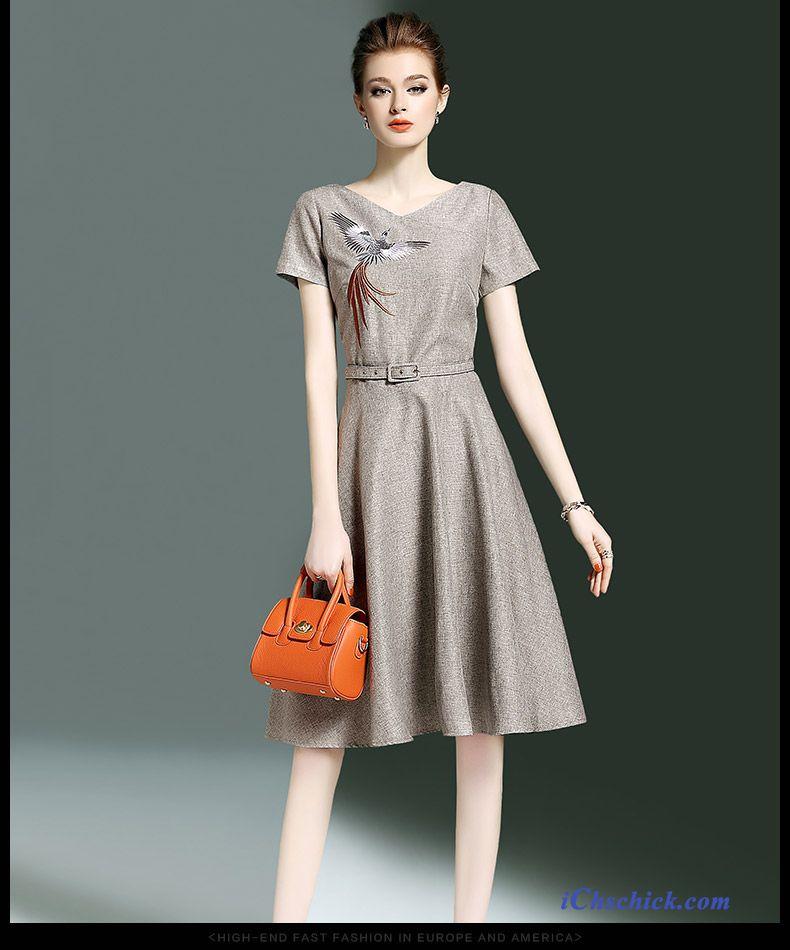 Herbst Kleider Damen Gold, Damen Kleider Winter Kaufen