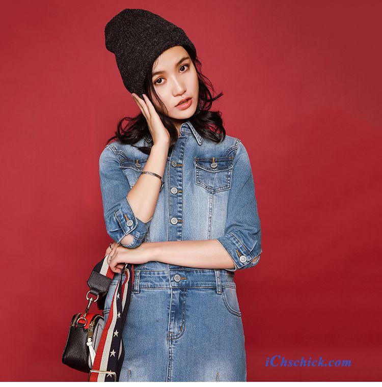 kleider kaufen online shop farbenreich blaues kleid mit