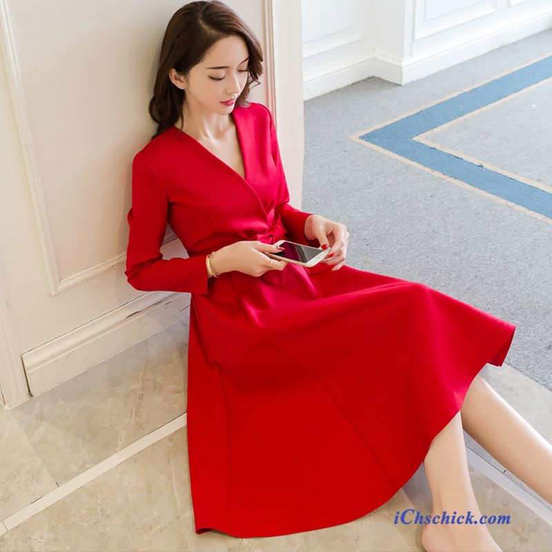 Damen Kleid Lang Kupfer, Abendkleider Online Kaufen