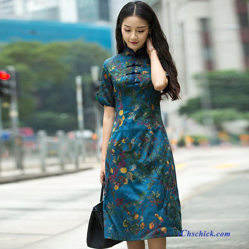 buy online 2e463 abd5b Blaues Langes Kleid, One Shoulder Kleid