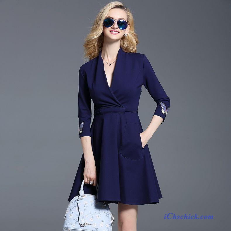 buy online 8ea91 b2607 Damen Kleider Festlich, Blaue Kleider Knielang Billig
