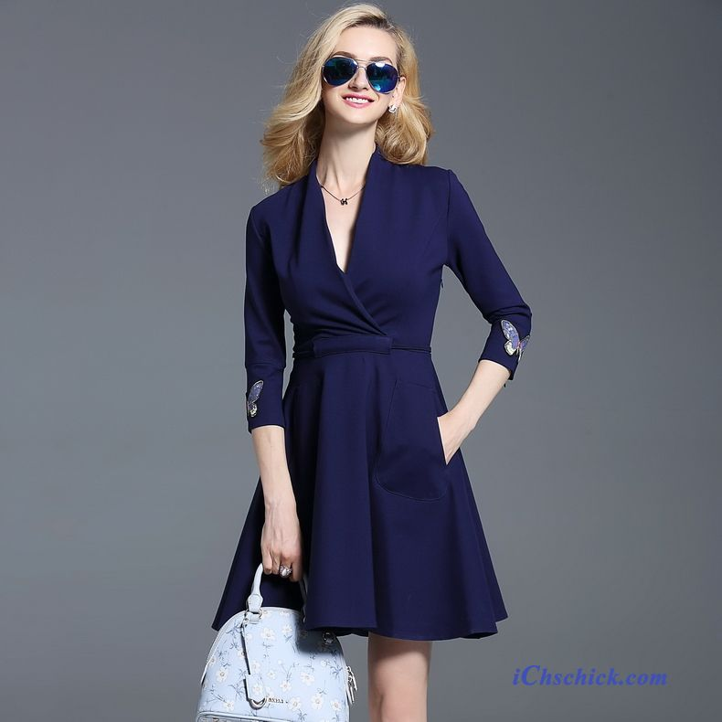 Damen kleid festlich blau