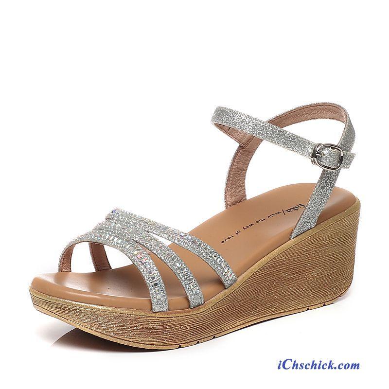 Plateau Damen Silber Kaufen SandalettenSandaletten Festliche rBoWxdCe
