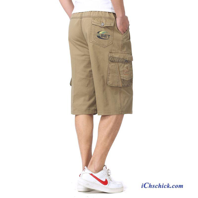 Größen Herren Kurze Hosen Türkis, Mode Hose Herren Baumwolle