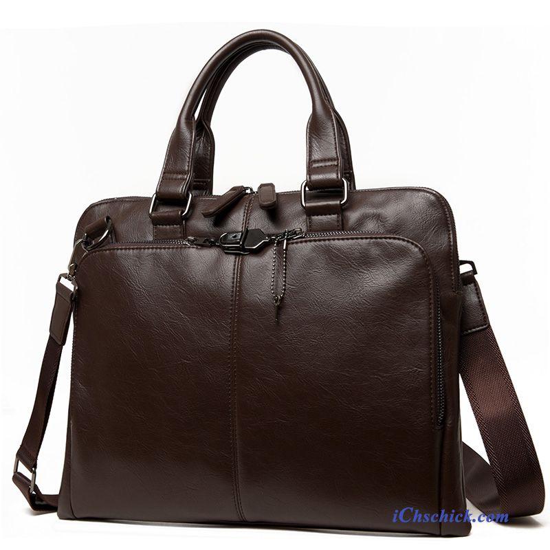 Handtasche Taschen Herren Leder Shopper Rabatt Braun vWqAnSOfOd