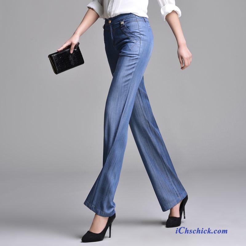 leichte sommer jeans damen braun wei e jeanshosen f r. Black Bedroom Furniture Sets. Home Design Ideas