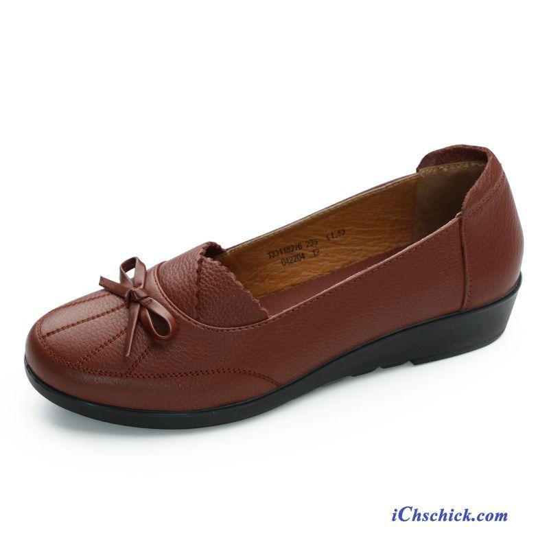 low priced 26353 401e1 Schuhe Leder Casual, Braune Wildlederschuhe Damen Rabatt