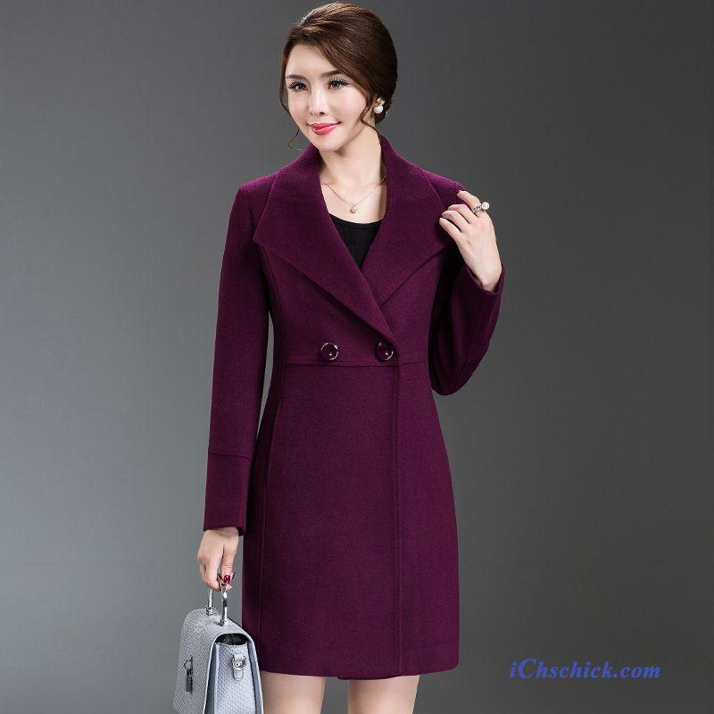 online store bde8a c5aee Winterjacke Damen Wolle Marineblau, Trenchcoat Damen Wolle ...