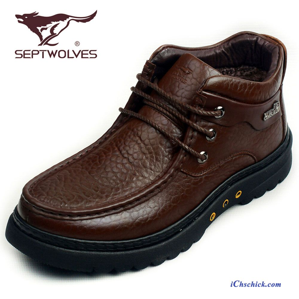 separation shoes c7924 b916e Winterstiefel Herren Leder Gefüttert, Business Boots Herren ...