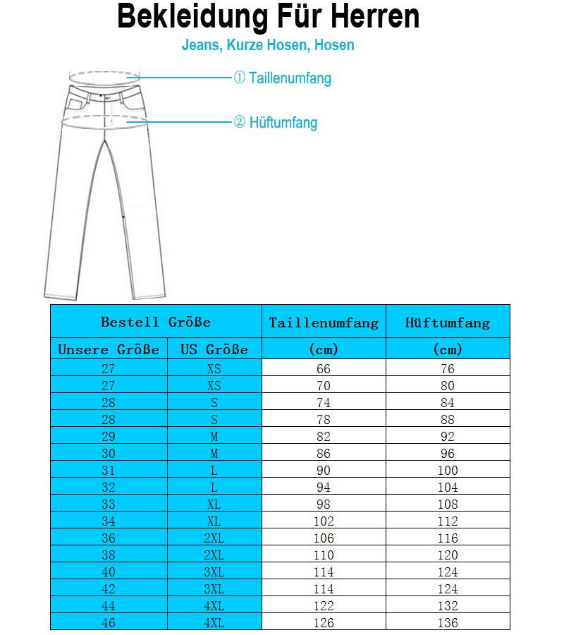 Ichschick Herren Jeans Größe