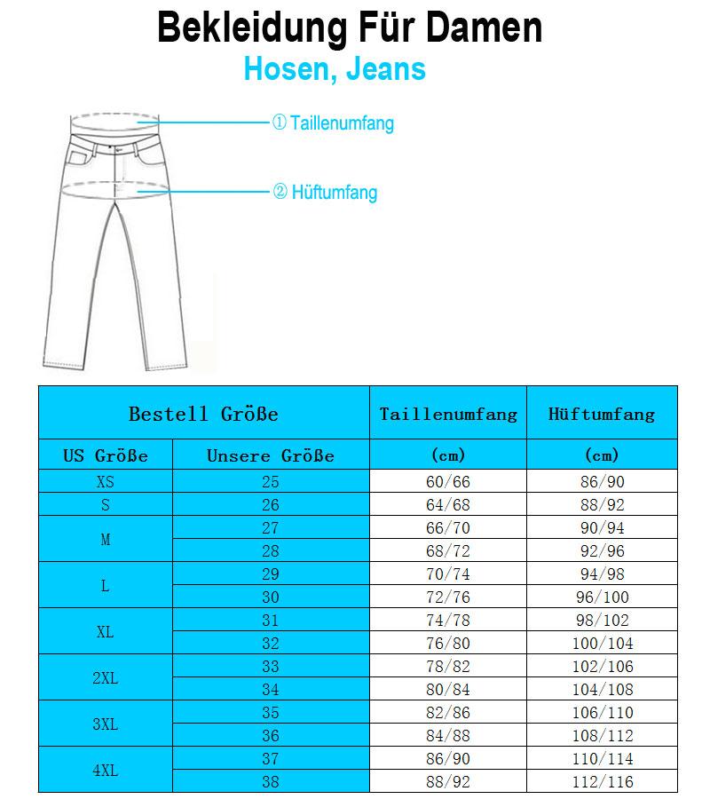 Ichschick Damen Jeans Größe